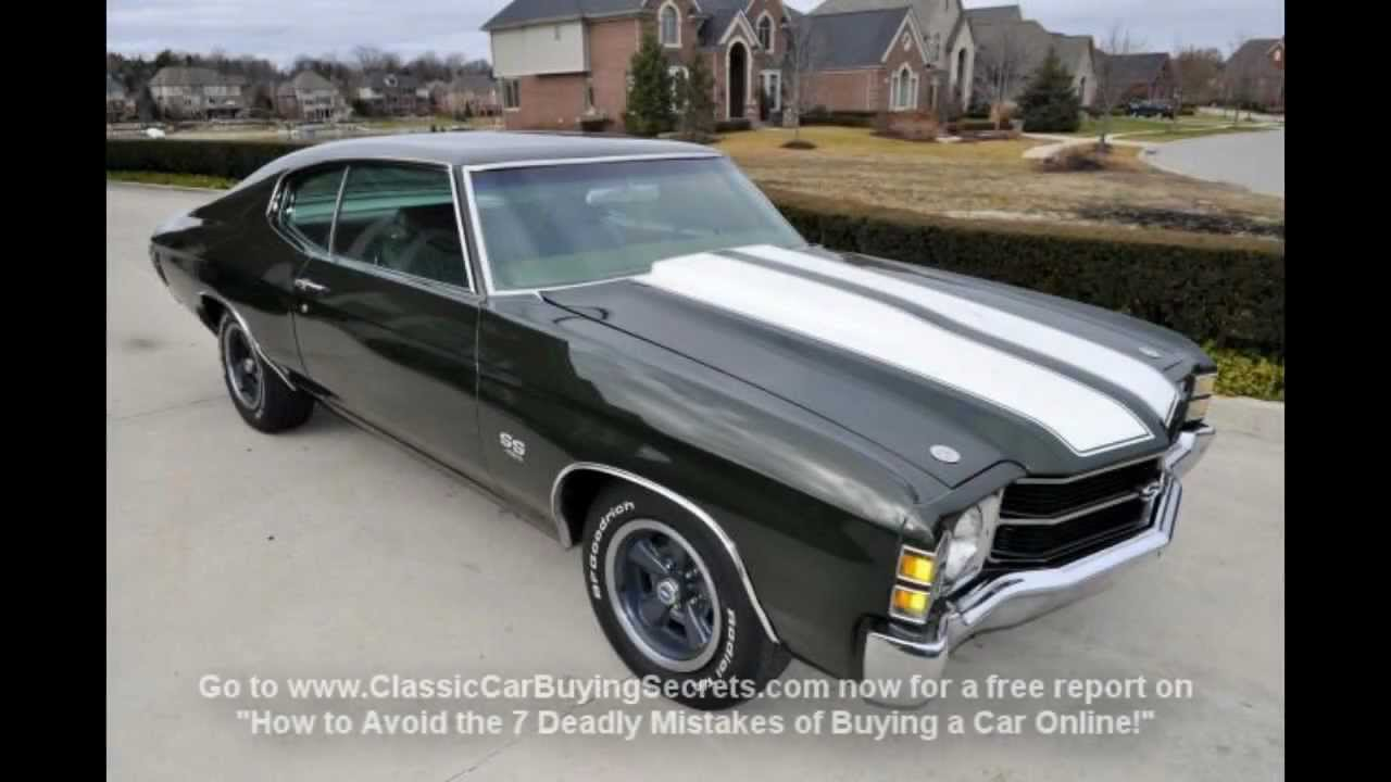 1971 Chevy Chevelle SS LS5 Numbers Matching Classic Muscle Car for ...