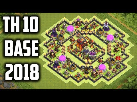 Best Th 10 (Town hall 10) Farming Base 2018 Anti Dark Elixir Trophy Base With Replays Clash Of Clans