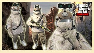 GTA 5 Best RNG & Tryhard Military Modded Outfit Online ((Invisible Legs))