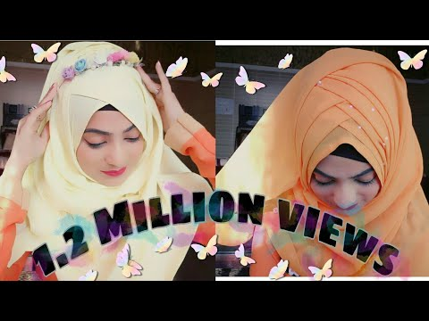 Spring Season inspired Hijab styles.. Let's welcome Spring with Lots of colors and flowers thumbnail