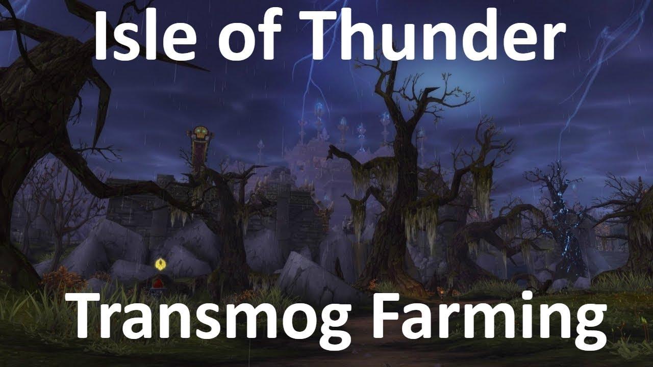 WoW Gold Farm - Isle of Thunder Transmog + Spirits of Harmony + Windwool  Cloth