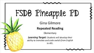 """Repeated Reading"" Strategy"