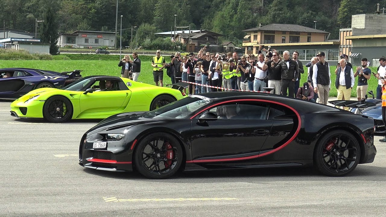 Amazing Hypercar and Supercar DRAG RACE 2019! Chiron vs  918 Spyder and  many more