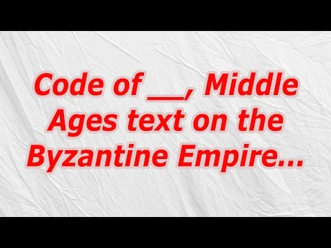 Code of, Middle Ages text on the Byzantine Empire (CodyCross Crossword Answer)