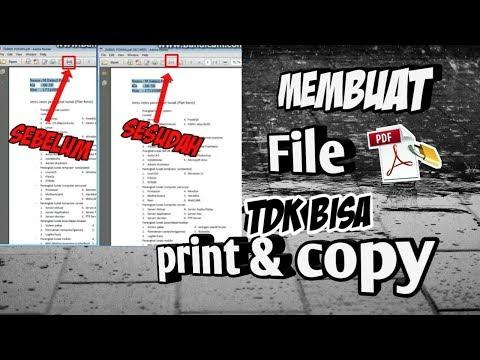Cara Mengunci File PDF Agar Tidak Bisa DIEDIT, DIPRINT atau DICOPY.