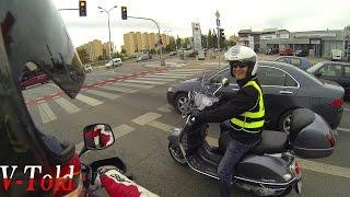 Cool people on the road. Onboard Suzuki Fun-Strom 1000