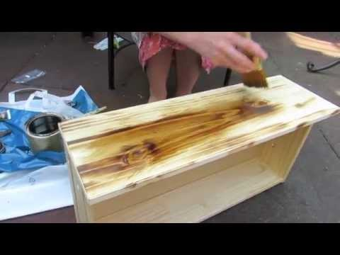 How to Antique Wood - How To Antique Wood - YouTube