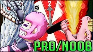ARMOR ROULETTE SACRIFICE CHALLENGE - Pro and Noob VS Monster Hunter World Multiplayer! #mhw
