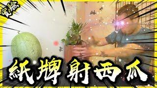 凡人也能用撲克牌射穿西瓜嗎?【胡思亂搞】 thumbnail