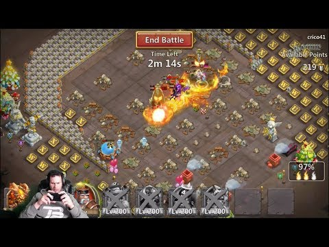 Mino 1 Shot Smashing Guild Wars Bases Having Fun Castle Clash