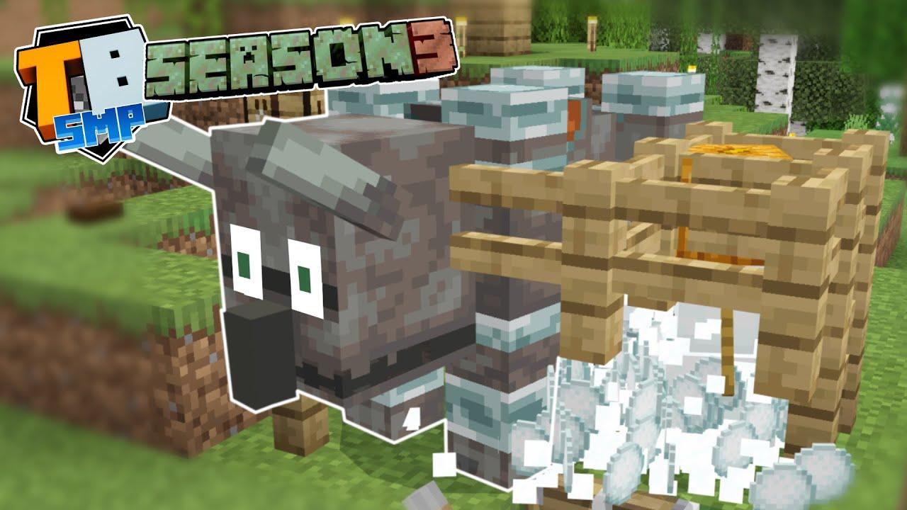 No shovel Snowfarm - Fully AFK - Truly Bedrock season 3 - minecraft 1.17 letsplay episode 9