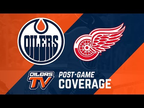 ARCHIVE | Post-Game Coverage - Oilers at Red Wings