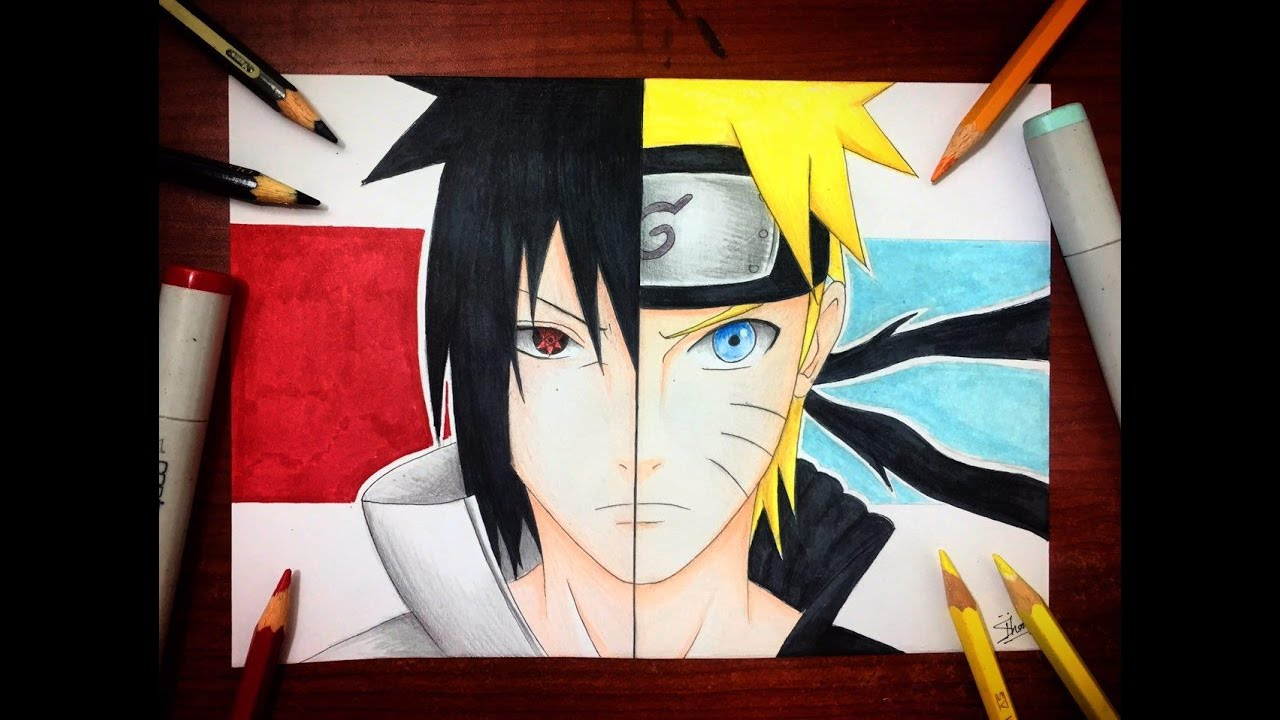 Speed drawing naruto vs sasuke final battle drawing naruto hd youtube