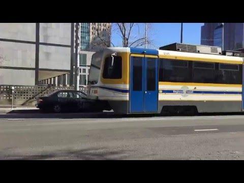 Sacramento Light Rail Gold Line Downtown