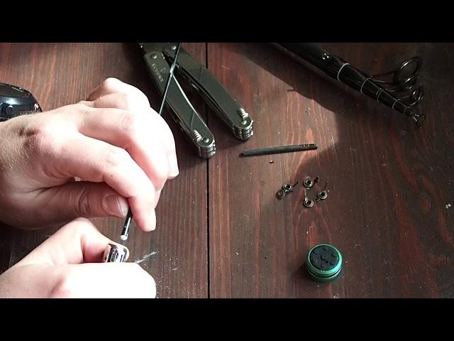 Как отремонтировать вершинку спиннинга (How to repair spinning tip)
