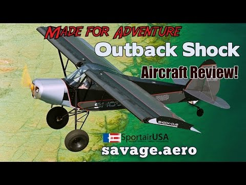 Savage Shock, Savage Outback Shock, Zlin Savage Outback Shock Cub Aircraft Review.