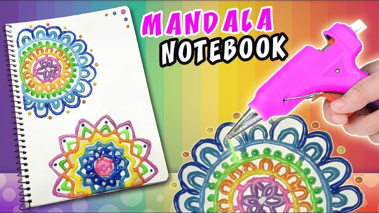 Diy Silicone Mandala Notebook Back To School Apasos Crafts Diy