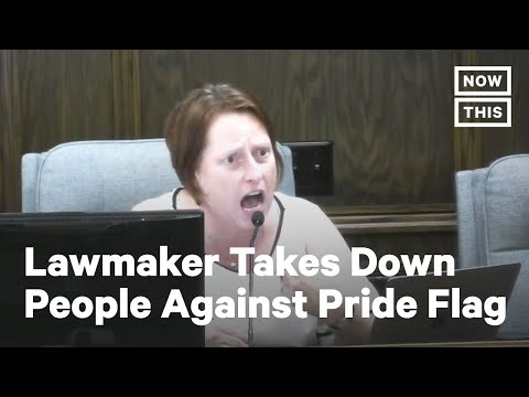 LGBTQ+ Lawmaker Confronts People Protesting Pride Flag | NowThis
