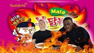 SAMYANG KOREAN FIRE NOODLES LEVEL 8 *MALA* | Bradley Chlopas