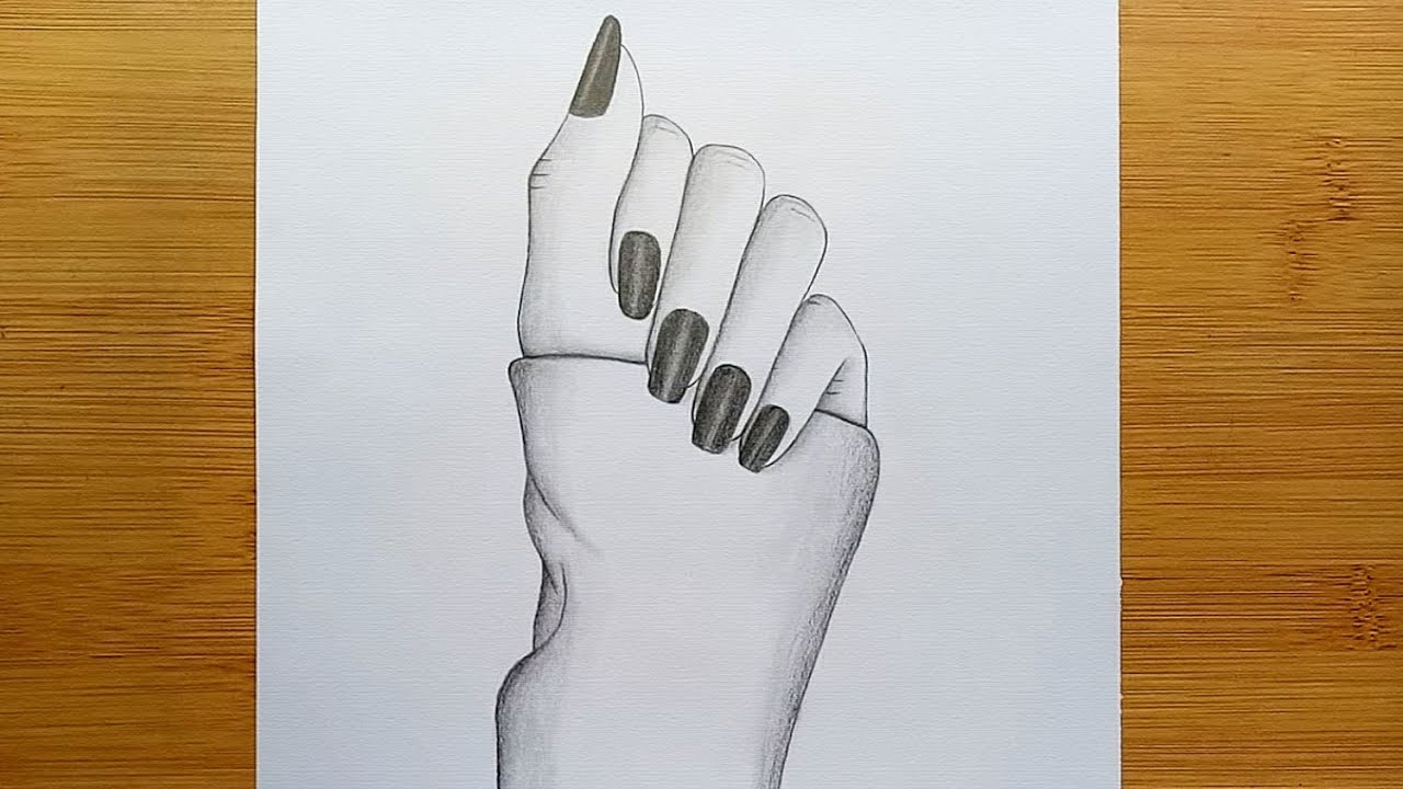 Hands drawing for beginners with pencil sketch//Step by