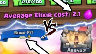 Clash Royale | CHEAPEST DECK TROLLING ARENA 2! EPIC GAME PLAY! | ZERO TO HERO CHALLENGE!