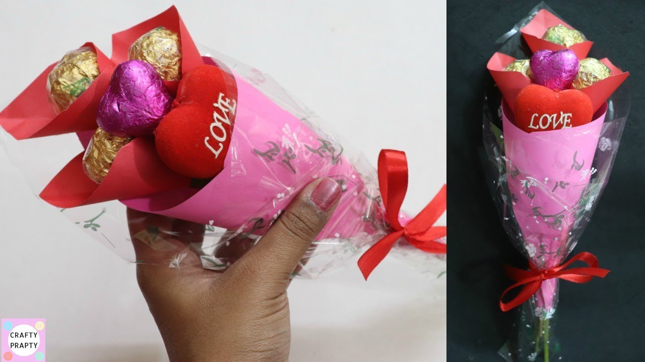 how to make chocolate bouquet / valentine day gift idea / diy