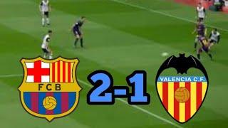 Barcelona vs Valencia HASIL PERTANDINGAN BOLA TADI MALAM 2018.
