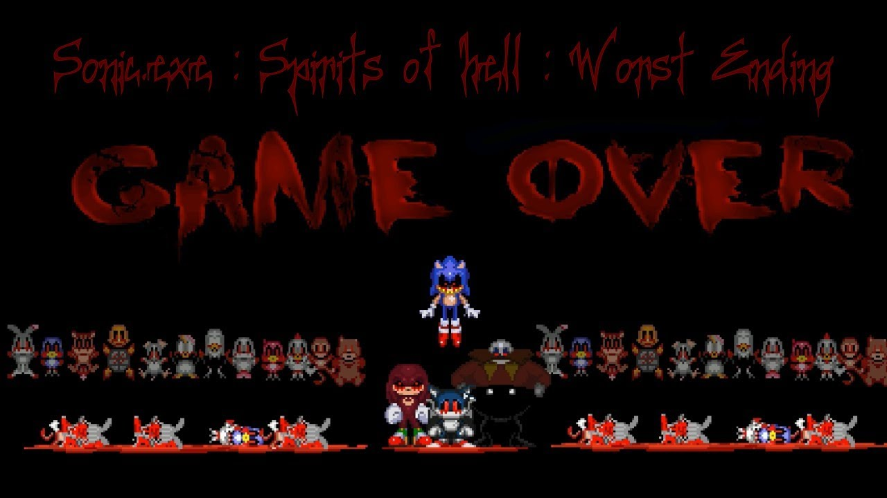 sonic.exe the spirits of hell worst ending