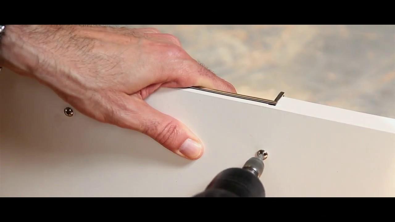 Врезная ручка GTV UZ B224 хром для мебели - YouTube