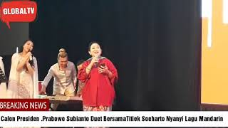 Download Video Duh.. Mesra nya. .Calon Presiden Prabowo Subianto Duet Nyanyi Bersama Titiek Soeharto MP3 3GP MP4