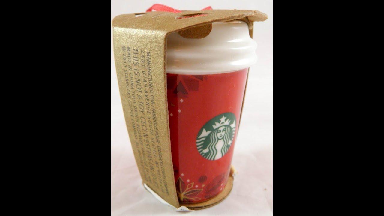 starbucks christmas mug ornament coffee 2012 ornaments cup