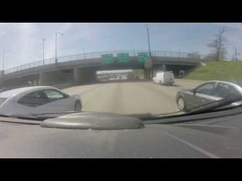 Train horn prevents an accident on 94 in Chicago