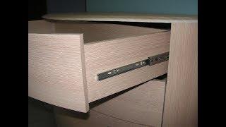 Мебельные направляющие для ящиков Основные виды
