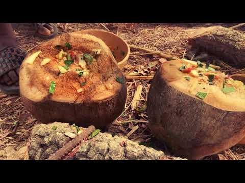 COOKING CHICKEN IN A COCONUT #coconut #wildernesssurvival #wildernesscooking #survivalchannel