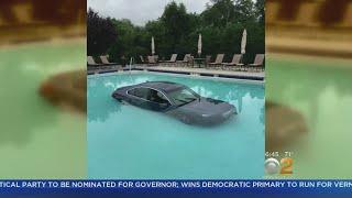 Car Lands In Carmel Pool