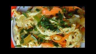 Салат с маринованным куринным мясом! Пища богов!