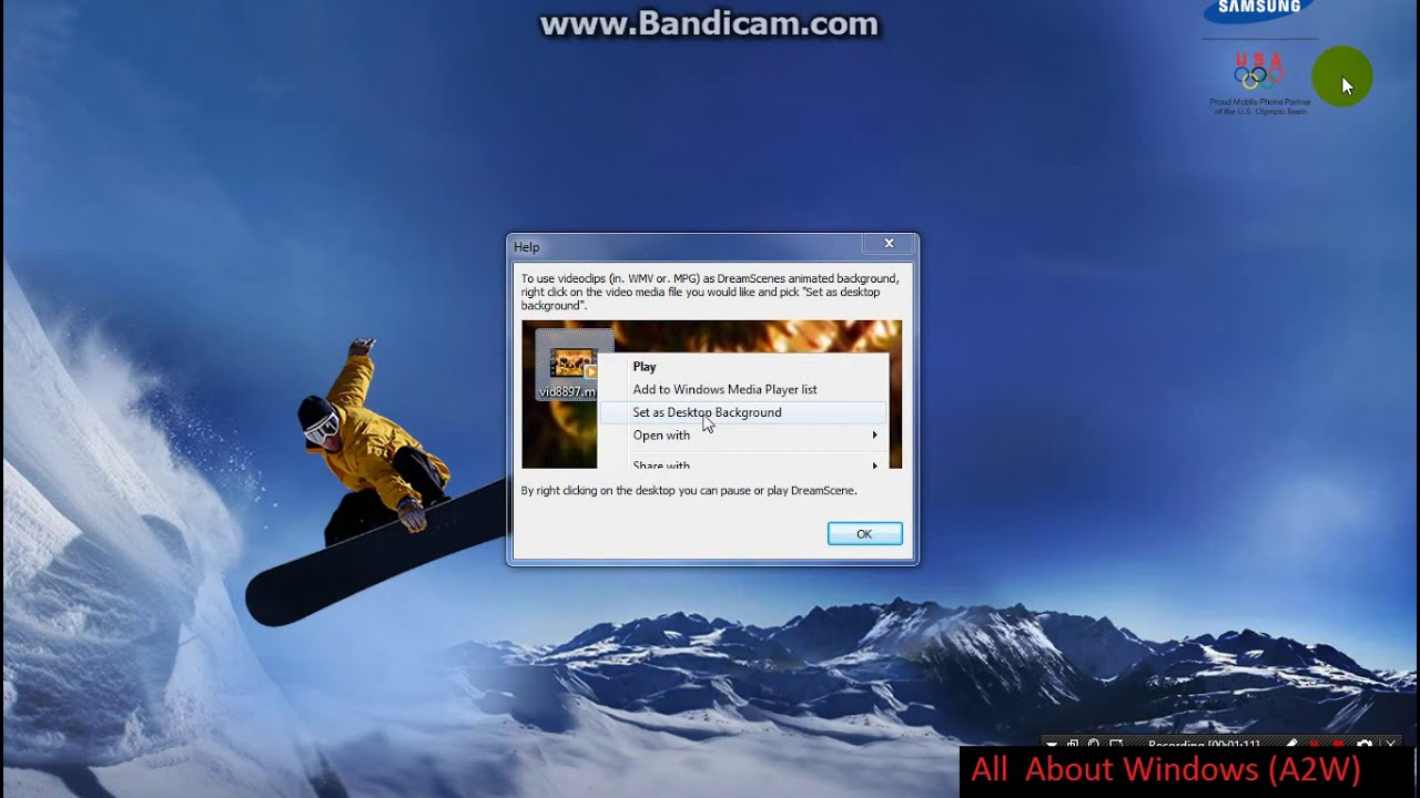 How To Enable Live Wallpapers In Windows 7 Youtube