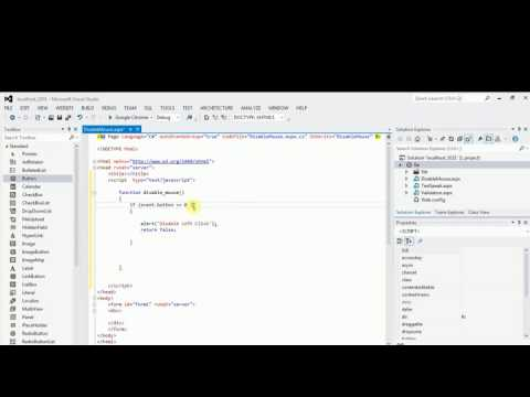 Disable Mouse Left And Right Click Using Javascript In Asp.Net