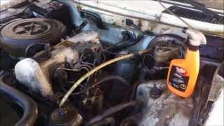 Jak umyć silnik za 15 zł - Mercedes Benz Kombi W123 1979 rok