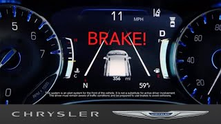 homepage tile video photo for Chrysler Pacifica   Full-Speed Forward Collision Warning With Active Braking
