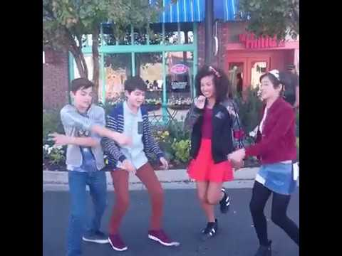 Asher Dov Angel and Andi Mack having fun with friends