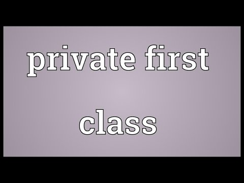 Private first class Meaning