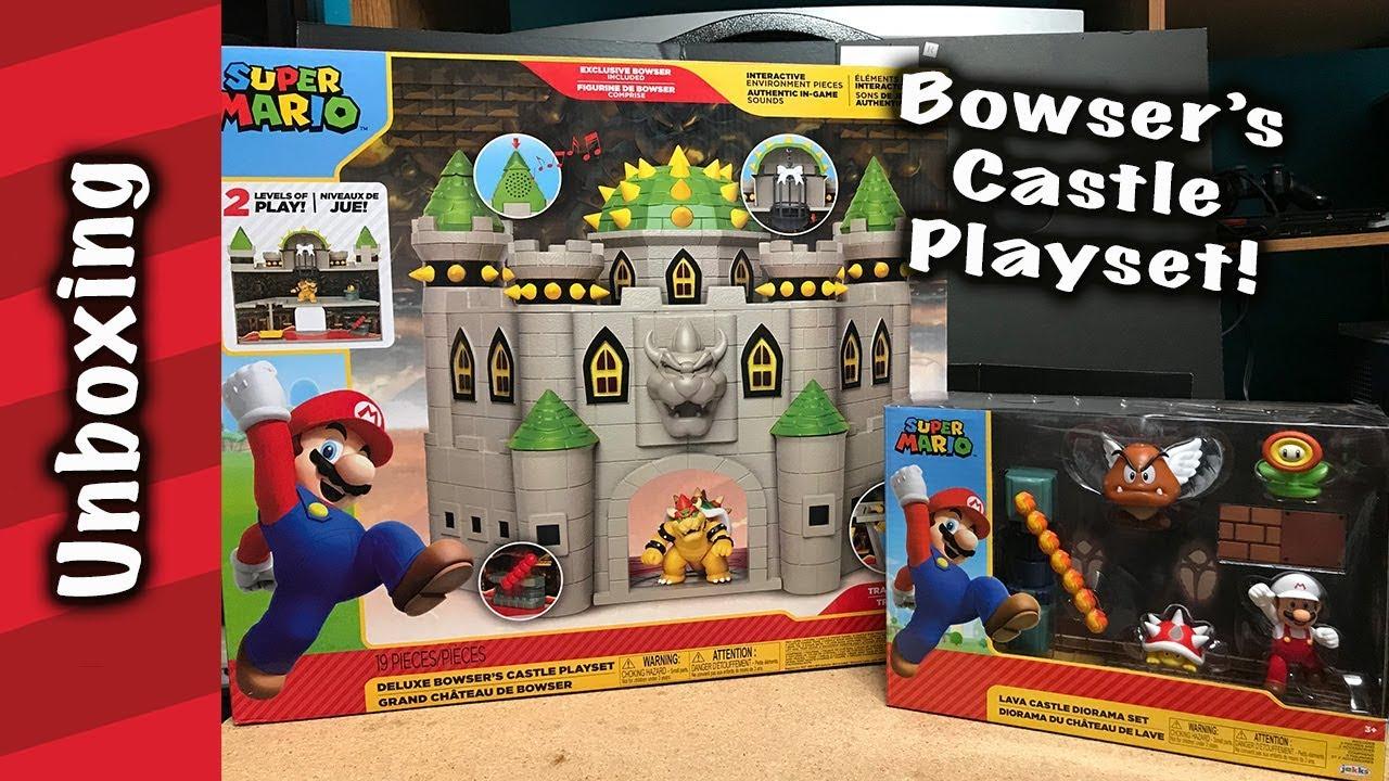 Bowser S Castle Playset Unboxing Plus Metroid Set
