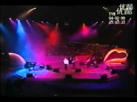 罕见的群星震撼演唱《海阔天空》,永远的男人偶像黄家驹 H264高清 480x360