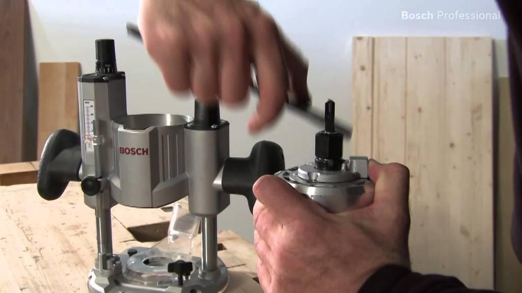 Frezarka górnowrzecionowa Bosch GOF 1600 CE - YouTube