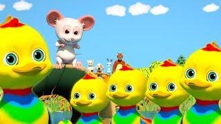 пять маленьких уток | русская утка рифма | мультфильм утка стихотворение | Five Little Ducks