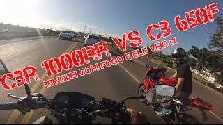 cb 650f tricolor vs cbr 1000 rr brincando com fogo jhonny brasil