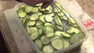 How To Make Sweet Pickles - Refrigerator Pickles