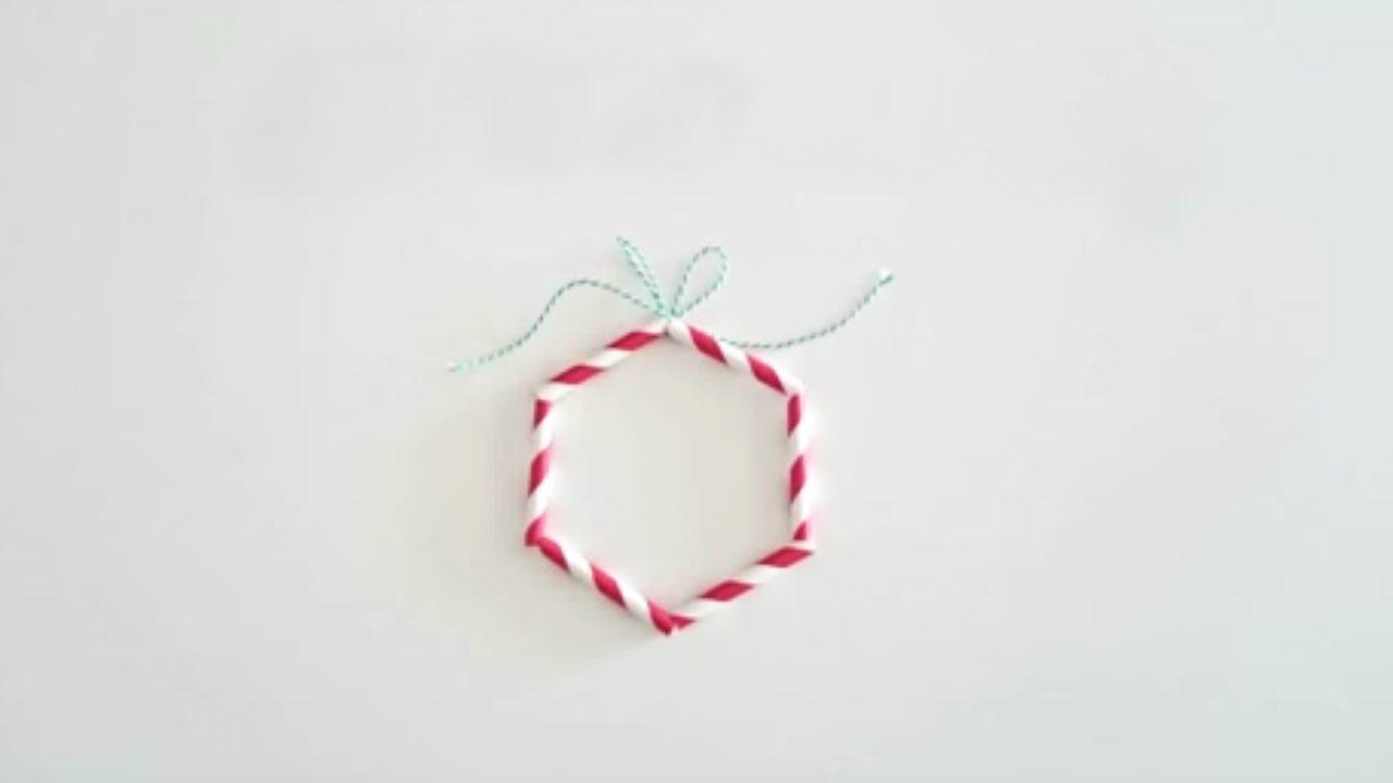 Fabriquer Des Decorations De Noel Avec Des Pailles Youtube