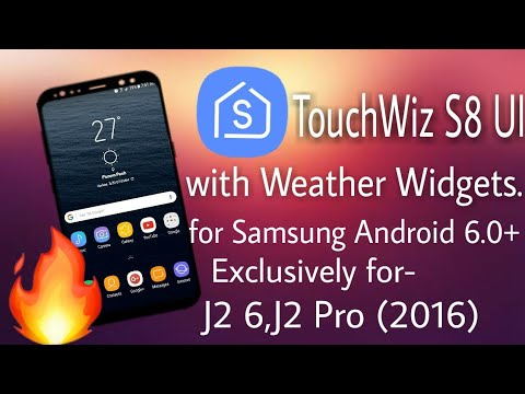 Full S8 UI With Weather for Samsung Android 6 0+ Devices🔥 Exclusively for-  J2 6,J2 Pro(2016)